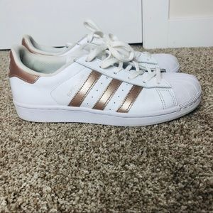 Adidas Superstar Rose Gold Runners Sneakers